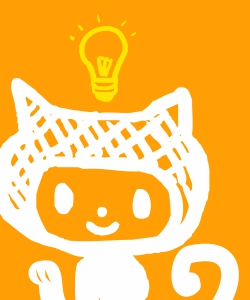 cat with lightbulb cartoon