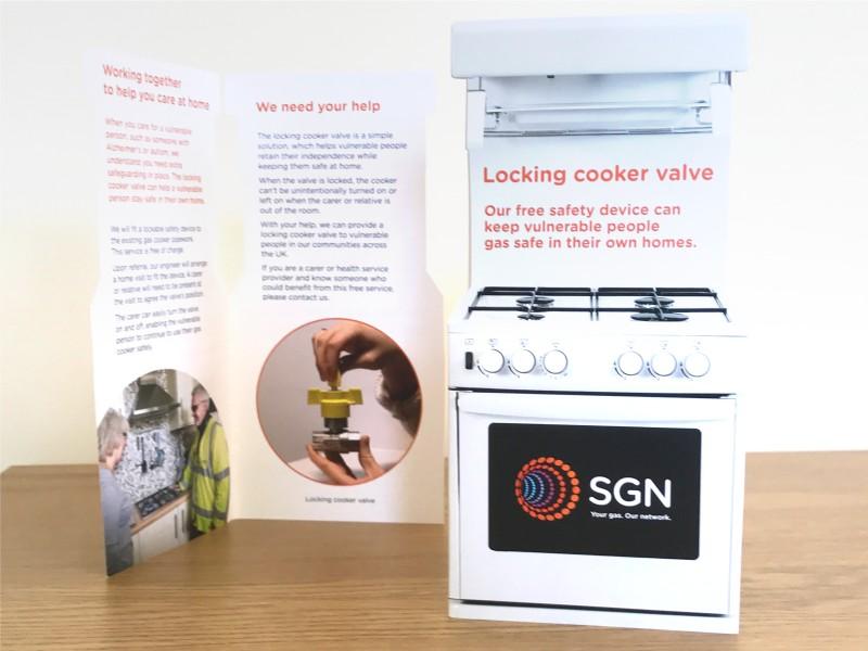UK cooker valve marketing & advertising campaign
