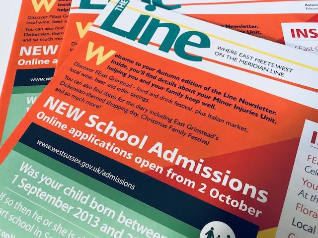 Newsletter design: East Grinstead Council, Sussex