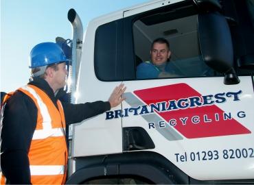 man in lorry