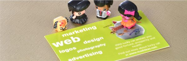 MAD Ideas business card