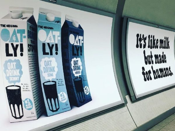 Oatly oat milk advert