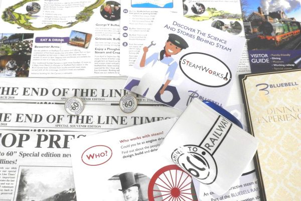 bluebell railway branding by MAD Ideas